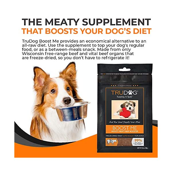 TruDog: Feed Me: Freeze Dried Raw Superfood - Real Meat Dog Food - Optimal Canine Health and Natural Longevity - All Natural - Balanced Nutrition - No Filters, No Grain - Just Add Water 4