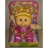 Cabbage Patch Kids Sittin Pretty Doll Blonde Hair/Blue Eyes - Pink Hearts Dress