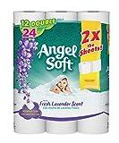 Angel Soft Toilet Paper, Lavender Scent, 12 Double Rolls, 12 = 24 Regular Bath Tissue Rolls