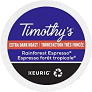 Timothy`s Rainforest Espresso Single Serve Keurig Certified Recyclable K-Cup pods for Keurig brewers, 30 Count