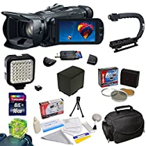 Canon VIXIA HF G30 HD Camcorder with HD CMOS Pro/32GB Internal Flash Memory Plus Essential Accessory Kit - Includes 16GB High Speed SDHC Card + 3 Piece Pro Filter Kit (UV, CPL, FLD) + Extra Battery + Battery Charger + Opteka Stabilizing X-GRIP + High Power 36 Pin LED Video Light + Padded Gadget Bag + Cleaning Kit + More