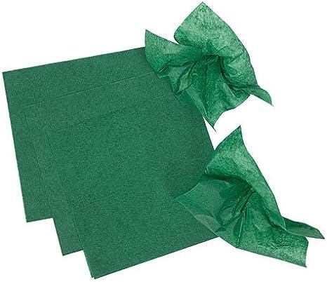 Maroon Pomps Tissue Squares