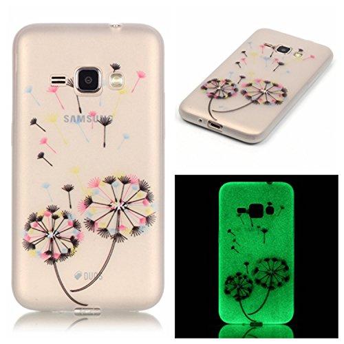 Samsung Galaxy S4 MiniCaso Funda,[Con Gratis Negro Kickstand] Keyye [Creativo luminoso duradero] Silicone Funda,Acuarela Imprenta Patrón [Anti-polvo] Exfoliante suave Transparente Delgado Gel TPU Piel Multicolor Diente de león