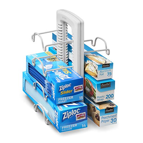 YouCopia StoreMore Adjustable WrapStand Kitchen Wrap Organizer, White]()