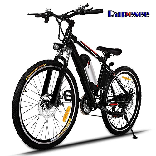 """Rapesee 25"""" Electric Mountain Bike E-Bike, 2018 Best 21-Speed Electric Bike Bicycle for Mountain Road Cycling with Aluminum Alloy Frame, Large Capacity Powerful Lithium-Ion Battery"""