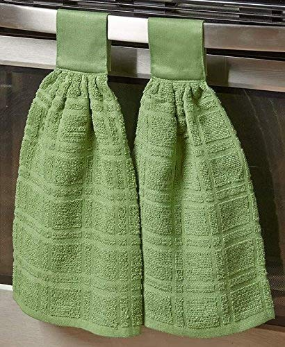The Lakeside Collection Set of 2 Kitchen Towels - Cactus
