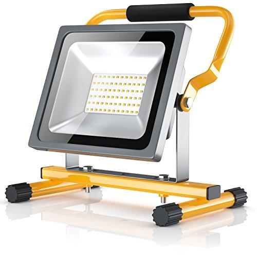 Brandson – LED Baustrahler 30W – Arbeitsleuchte – Arbeitsscheinwerfer – Bauscheinwerfer – inkl. Standgestell und…