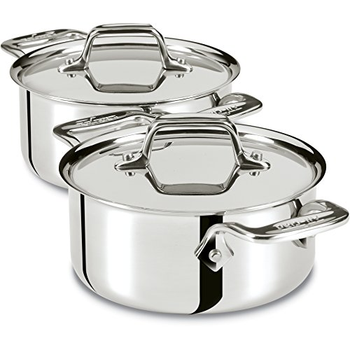 All Clad E849A264 Stainless Cocottes 0 5 Quart