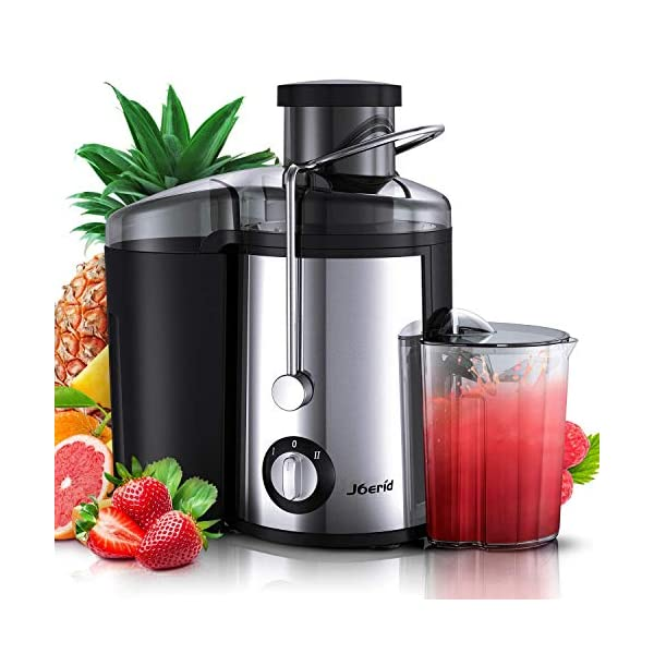 Juicer Machines, [2020 Upgrade] Joerid Centrifugal Juicer, Juice Extractor with Spout Adjustable, Lighter & Powerful… 1