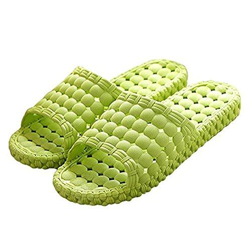 Opromo , Damen Hausschuhe Grün