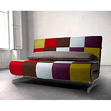 AMUEBLALO - Sofa Cama de diseño Italiano, reclinable, Tejido ...