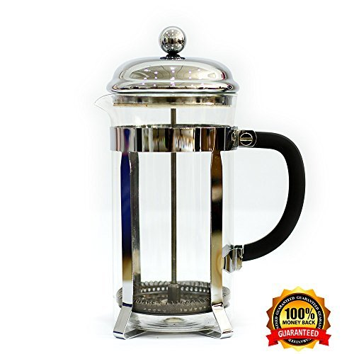 Lovely Home French Press Coffee Maker – 32Oz Coffee and Tea Original French Press – Stainless Steel and Heat Resistant Glass – User-Friendly Design – Perfect Gift for Coffee and Tea Lovers by LovelyHome (Image #2)