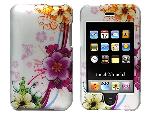 Design Rubberized Hard Case (Generic NEW Mixed Flower RUBBERIZED Design HARD CASE COVER FOR APPLE iPOD TOUCH 2 3 2ND 3RD)