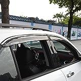 equinox chrome deflector - Kust yd5992w Chevrolet Car Windows Rain Guards,Automobile Window Visors Deflector Fit for Chevrolet Equinox 2018,Pack of 4 Pieces Chrome Rain Guards,Chevy Equinox Accessories Sunroof Rain Guard
