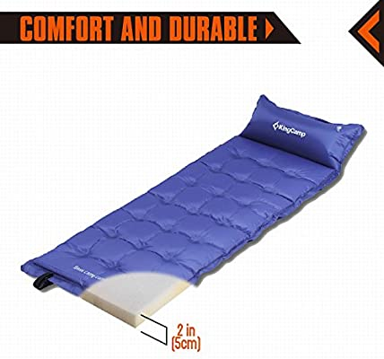 Amazon.com: Kingcamp Camping autohinchable Pad, alfombrilla ...