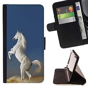 - Horse Cute - - Monedero PU titular de la tarjeta de cr?dito de cuero cubierta de la caja de la bolsa FOR Samsung Galaxy S5 V SM-G900 Retro Candy