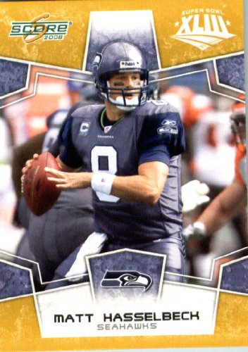 280 Matt (2008 Score SuperBowl Gold NFL Football Card - (Limited to 800 Made) # 280 Matt Hasselbeck QB - Seattle Seahawks)