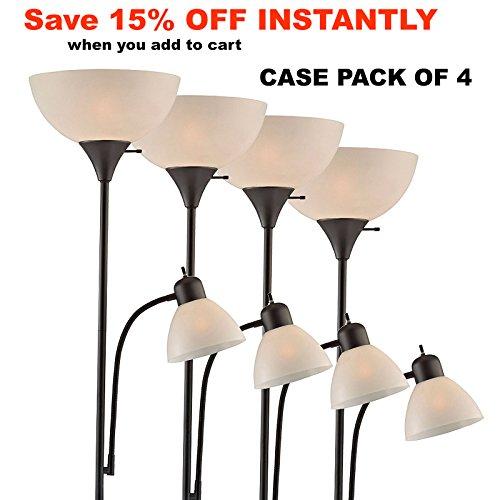 Accents 150 Watt Floor Lamp with Side Reading Light - Floor Lamps ...