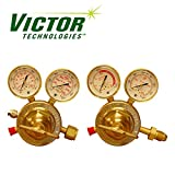 Set of Genuine Victor SR450 Series HD Oxygen & HD Acetylene Regulators