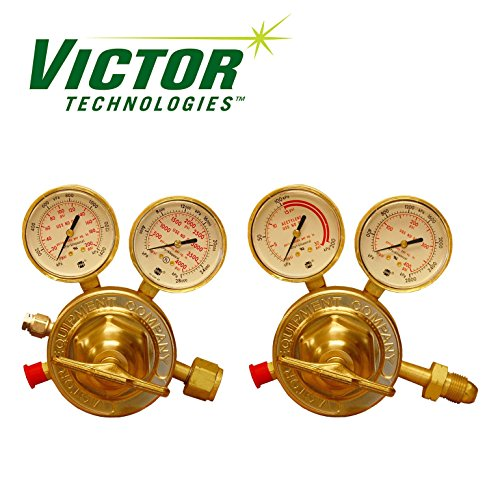 (Set of Genuine Victor SR450 Series HD Oxygen & HD Acetylene Regulators)
