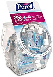 PURELL Advanced Hand Sanitizer, Refreshing Gel, Clean Scent, 1 fl oz Flip-Cap Bottle with Display Bowl (Pack o