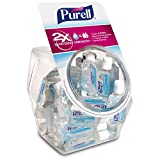 PURELL Advanced Hand Sanitizer, Refreshing Gel, 36 - 1 fl oz Portable, Travel Sized Flip Cap Bottles with Display Bowl - 3901-BWL