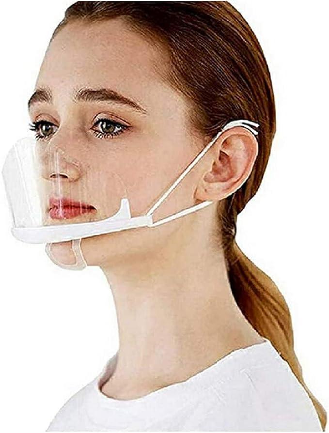 3 Stück Mund Nasen Visier Transparent Gesichtsvisier Gesichtsschutz Mundschild