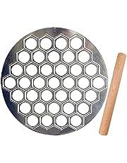 Aiseo 100pcs Pelmeni Maker Russian Ravioli Maker with Rolling Pin Handmade Dumpling Mold Set and Cutter,Metal Mold for Empanada Press ,Pelmenitsa,Cavatelli,Perogie Press