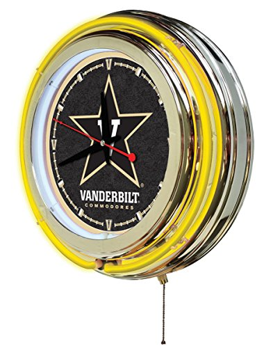 Holland Bar Stool Company NCAA Vanderbilt Commodores Double Neon Ring 15-Inch Diameter Logo (Commodore Clock)