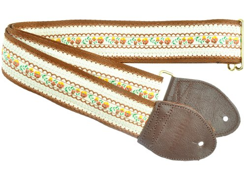 (Souldier Custom GS0256NM05WB Handmade Freesia Guitar Strap, Brown Cream)