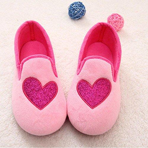 Transer® Damen Zuhause Hausschuhe Warm Schwangere Yogaschuhe Kaschmir+Plastik (Bitte achten Sie auf die Größentabelle. Bitte eine Nummer größer bestellen. Vielen Dank!) Rosa