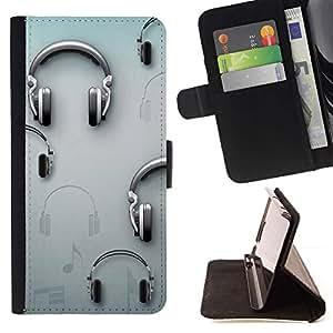 Momo Phone Case / Flip Funda de Cuero Case Cover - Música Gris Dj Sound - MOTOROLA MOTO X PLAY XT1562