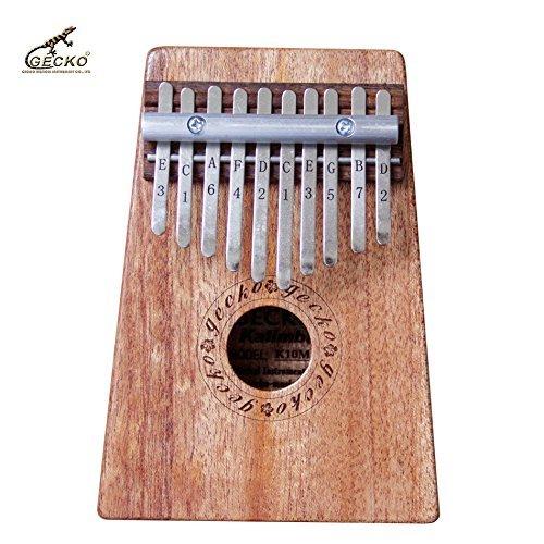 Gecko K10M 10 Key Mahogany Kalimba African Thumb Piano Finger Percussion Keyboard Music Instruments