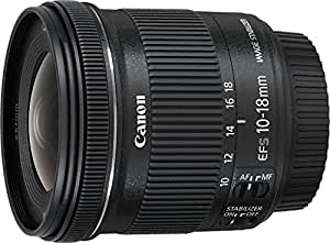 Canon EF-S 10-18 mm f:4.5-5.6 IS STM - Objetivo para Canon (Estabilizador óptico), color negro