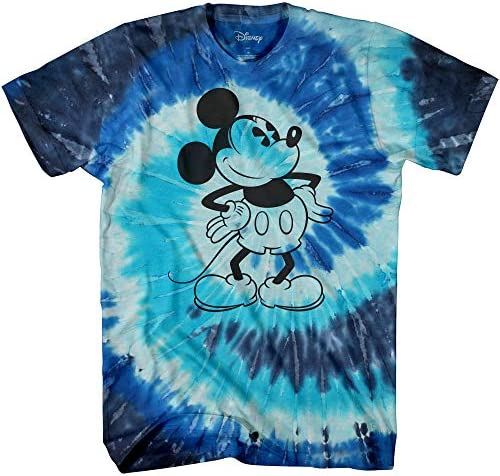 Mickey Mouse Attitude Tie Dye Classic Vintage Disneyland World Adult Tee Graphic T-Shirt for Men Tshirt Clothing Apparel