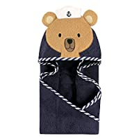 Hudson Baby Animal Hooded Towel, Sailor Bear, 33''x33''