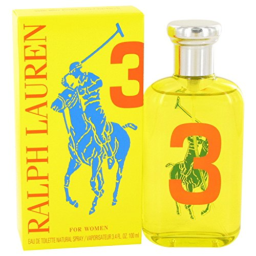 Big Pony Yellow 3 Perfume by Ralph Lauren Eau de Toilette Spray For Women 3.4 oz.100 ml. [WP] Free! Ralph Hot Shower Gel