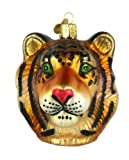 Old World Christmas Tiger Head Glass Holiday Ornament