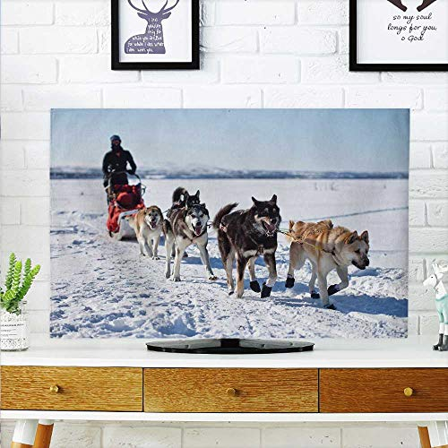 aolankaili Cover for Wall Mount tv Alaskan California sled Dog Cover Mount tv W30 x H50 INCH/TV 52