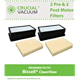 2 Washable & Reusable Pre-Motor/Post-Motor Filter Kits for Bissell CleanView Vacuums; Compare to Bissell Part No. 2032662, 2032663, 8531, 1008; Designed & Engineered by Think Crucial