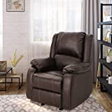 Tammy Traditional Dark Brown Leather Recliner