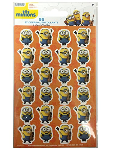 96 Minions Stickers - 4 sheets each (Minion Stickers)