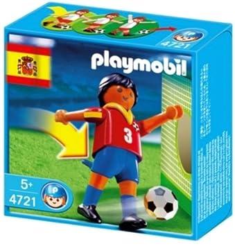 playmobil 4721 joueur de foot espagnol avec fonction de tir au but