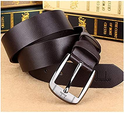 Mens Casual Jean Belts Wide Belt Leather Pin Buckle Waistband Belts Solid /& Fashion Halffle Leather Belts for Men