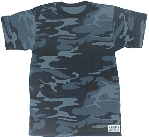 Army Universe Midnight Navy Blue Camouflage Short Sleeve T-Shirt with Pin -  Size 2X c83a4978cec