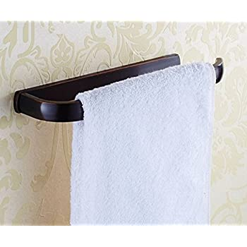 ELLOu0026ALLO Oil Rubbed Bronze Towel Bars For Bathroom Accessories Wall  Mounted Towel Holder, Rust Protection