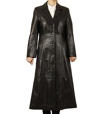 Simons Leather Women's Full Length Leather Coat at Amazon Women's ...
