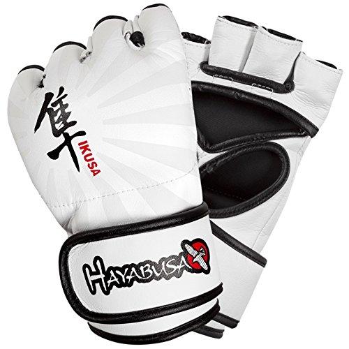 Hayabusa Ikusa MMA Gloves, 4-Ounce/X-Large, White