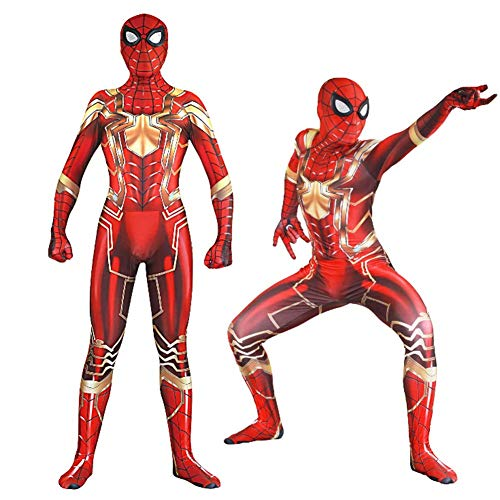 New Spiderman Costume,Unisex Lycra Spandex Spider-Man Cosplay Homecoming Avengers -
