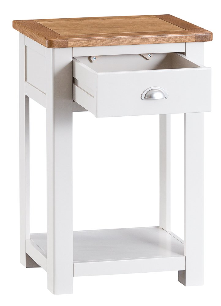 The Furniture Outlet Portland White Painted Oak Telephone Table